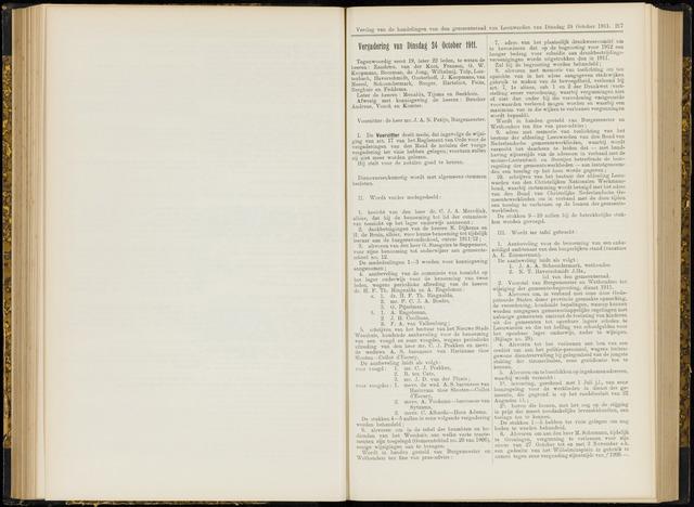 Raadsverslagen van de gemeente Leeuwarden, 1865-2007 (Notulen) 1911-10-24