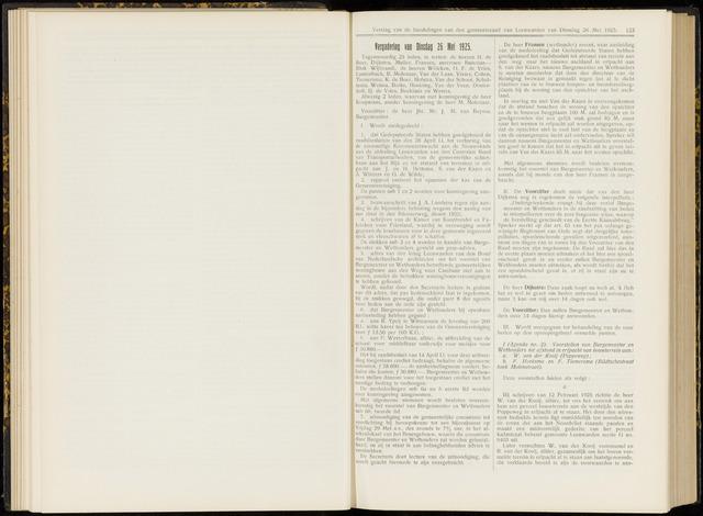 Raadsverslagen van de gemeente Leeuwarden, 1865-2007 (Notulen) 1925-05-26