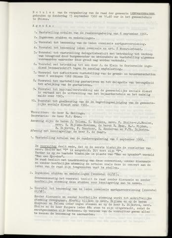 Notulen van de gemeenteraad van Leeuwarderadeel 1966-09-15