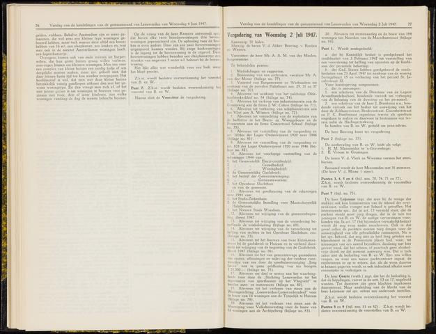 Raadsverslagen van de gemeente Leeuwarden, 1865-2007 (Notulen) 1947-07-02