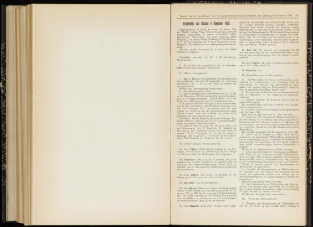 Raadsverslagen van de gemeente Leeuwarden, 1865-2007 (Notulen) 1920-11-09
