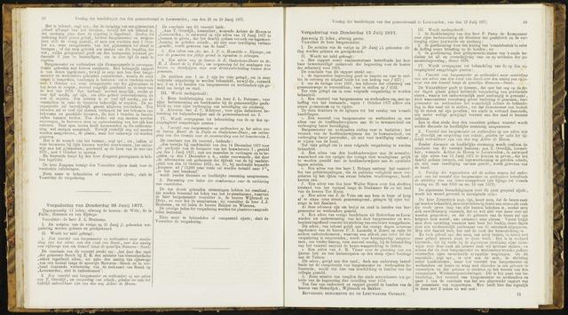 Raadsverslagen van de gemeente Leeuwarden, 1865-2007 (Notulen) 1877-07-12