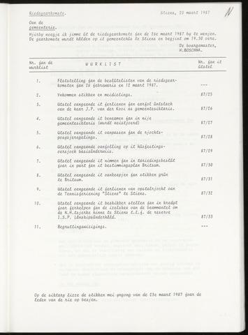 Notulen van de gemeenteraad van Leeuwarderadeel 1987-03-26
