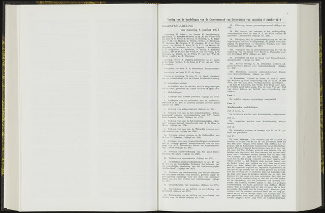 Raadsverslagen van de gemeente Leeuwarden, 1865-2007 (Notulen) 1973-10-08