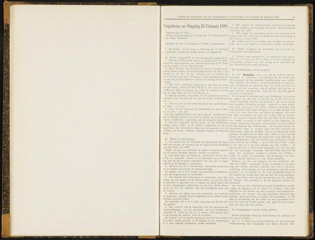 Raadsverslagen van de gemeente Leeuwarden, 1865-2007 (Notulen) 1890-02-25