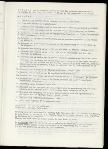 Notulen van de gemeenteraad van Leeuwarderadeel 1966-07-29