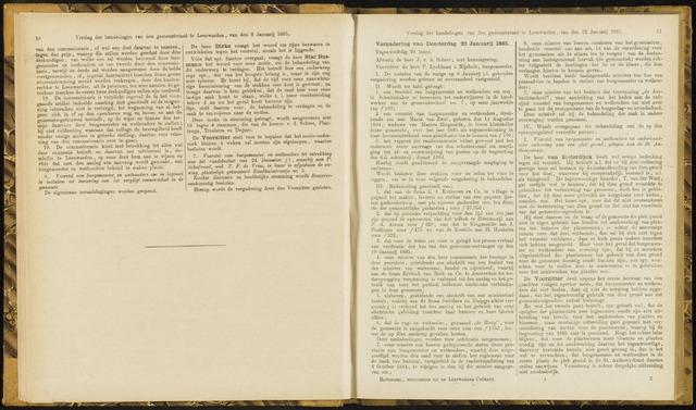 Raadsverslagen van de gemeente Leeuwarden, 1865-2007 (Notulen) 1885-01-22