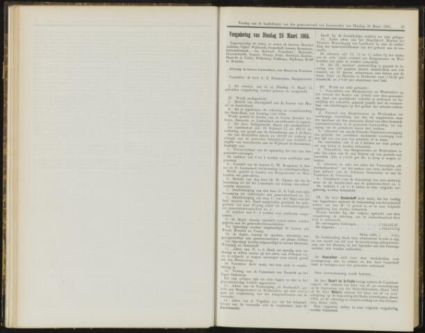 Raadsverslagen van de gemeente Leeuwarden, 1865-2007 (Notulen) 1905-03-28
