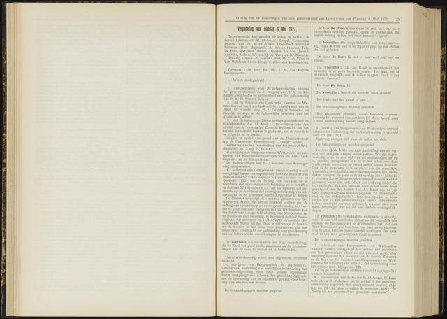 Raadsverslagen van de gemeente Leeuwarden, 1865-2007 (Notulen) 1922-05-09