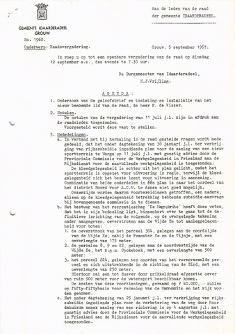 raadsverslagen Idaarderadeel 1935-1983 1967-09-12
