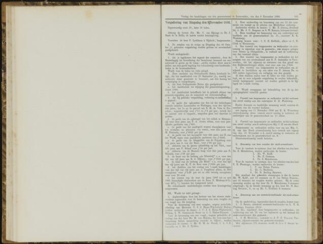 Raadsverslagen van de gemeente Leeuwarden, 1865-2007 (Notulen) 1886-11-09