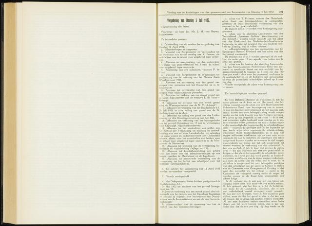 Raadsverslagen van de gemeente Leeuwarden, 1865-2007 (Notulen) 1932-07-05