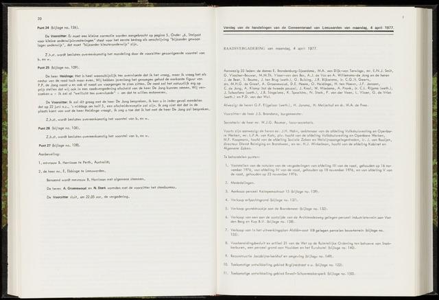 Raadsverslagen van de gemeente Leeuwarden, 1865-2007 (Notulen) 1977-04-04