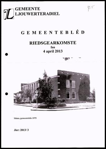 Notulen van de gemeenteraad van Leeuwarderadeel 2013-04-04