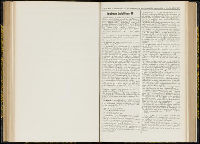Raadsverslagen van de gemeente Leeuwarden, 1865-2007 (Notulen) 1916-10-10