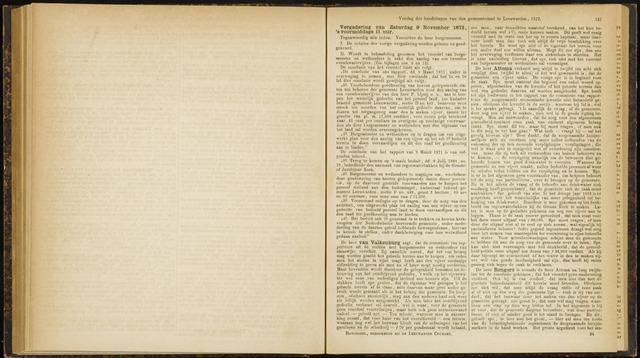Raadsverslagen van de gemeente Leeuwarden, 1865-2007 (Notulen) 1872-11-09