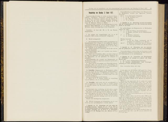 Raadsverslagen van de gemeente Leeuwarden, 1865-2007 (Notulen) 1927-03-22