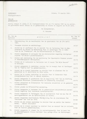 Notulen van de gemeenteraad van Leeuwarderadeel 1981-05-21