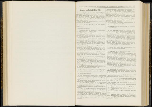 Raadsverslagen van de gemeente Leeuwarden, 1865-2007 (Notulen) 1930-10-28