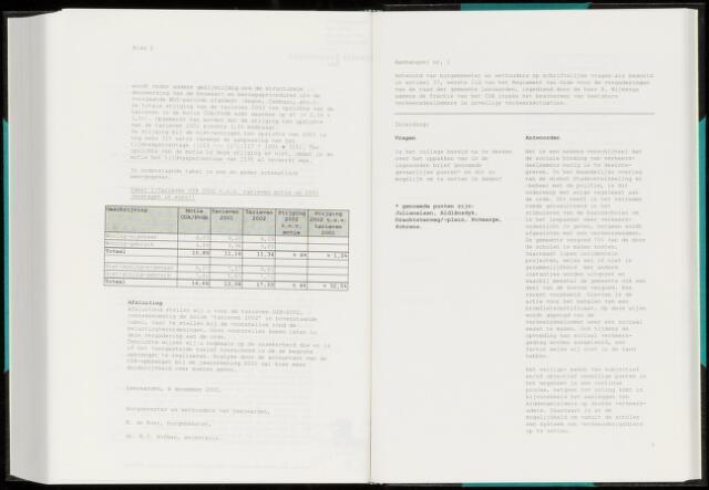Raadsverslagen van de gemeente Leeuwarden, 1865-2007 (Schriftelijke vragen) 2001