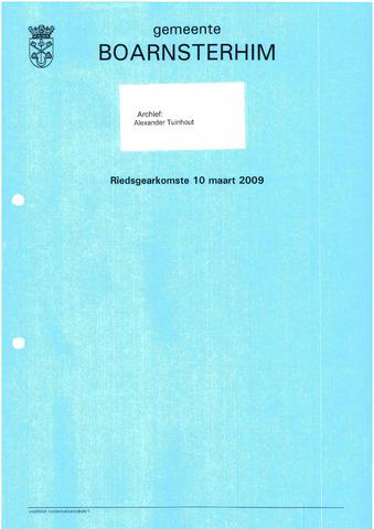 Boarnsterhim vergaderstukken gemeenteraad  2009-03-10