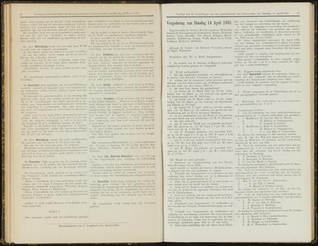 Raadsverslagen van de gemeente Leeuwarden, 1865-2007 (Notulen) 1903-04-14