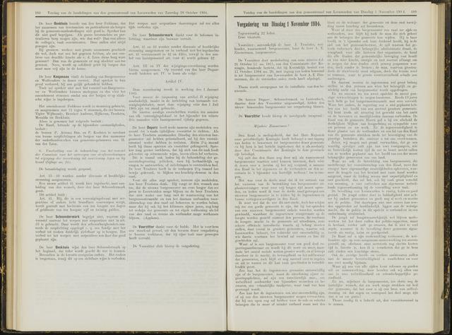 Raadsverslagen van de gemeente Leeuwarden, 1865-2007 (Notulen) 1904-11-01