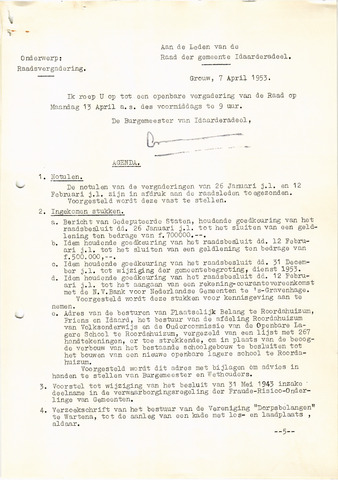 raadsverslagen Idaarderadeel 1935-1983 1953-04-13
