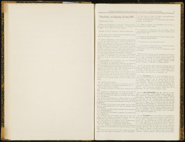 Raadsverslagen van de gemeente Leeuwarden, 1865-2007 (Notulen) 1887-06-14