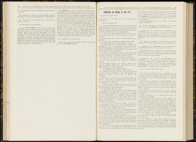 Raadsverslagen van de gemeente Leeuwarden, 1865-2007 (Notulen) 1924-06-10