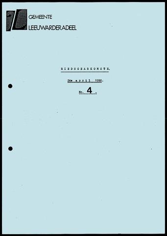 Notulen van de gemeenteraad van Leeuwarderadeel 1990-04-24