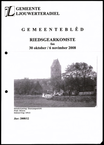 Notulen van de gemeenteraad van Leeuwarderadeel 2008-10-30