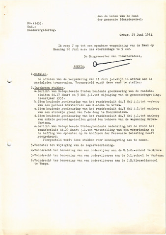 raadsverslagen Idaarderadeel 1935-1983 1954-06-28