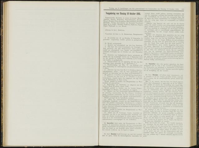 Raadsverslagen van de gemeente Leeuwarden, 1865-2007 (Notulen) 1905-10-10