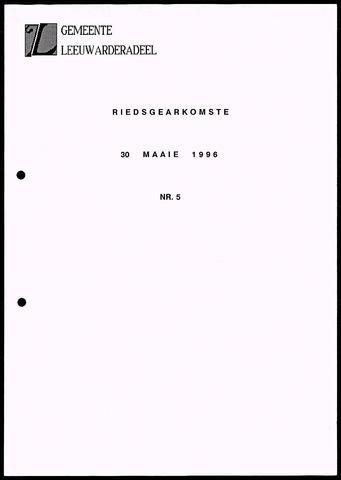 Notulen van de gemeenteraad van Leeuwarderadeel 1996-05-30