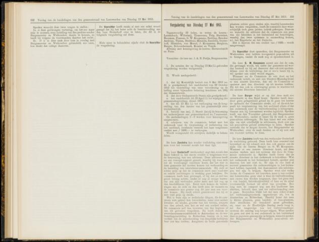 Raadsverslagen van de gemeente Leeuwarden, 1865-2007 (Notulen) 1913-05-27