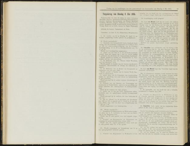 Raadsverslagen van de gemeente Leeuwarden, 1865-2007 (Notulen) 1905-05-09