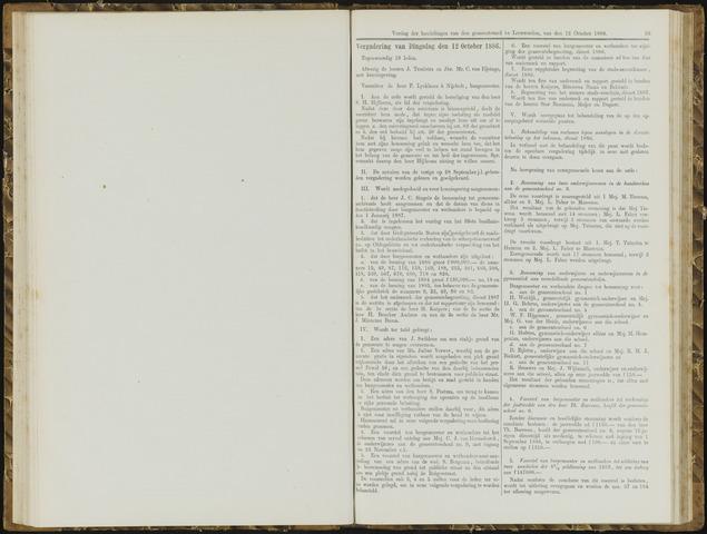 Raadsverslagen van de gemeente Leeuwarden, 1865-2007 (Notulen) 1886-10-12