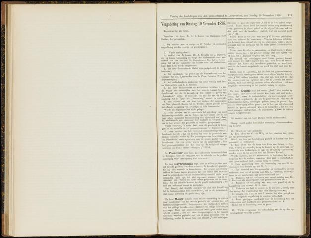 Raadsverslagen van de gemeente Leeuwarden, 1865-2007 (Notulen) 1896-11-10