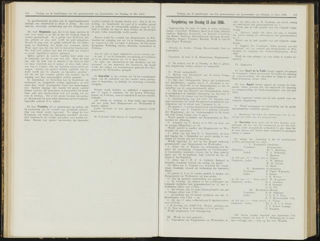 Raadsverslagen van de gemeente Leeuwarden, 1865-2007 (Notulen) 1905-06-13