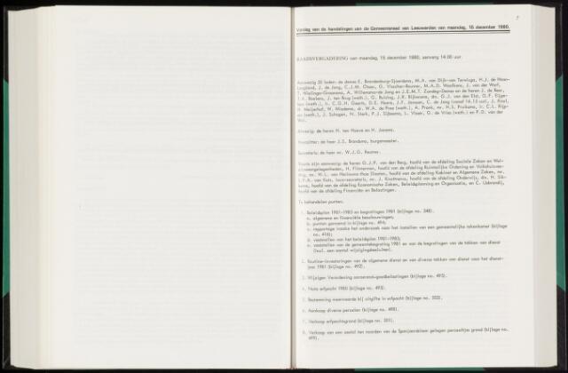 Raadsverslagen van de gemeente Leeuwarden, 1865-2007 (Notulen) 1980-12-15