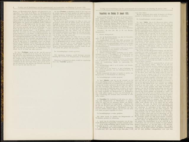 Raadsverslagen van de gemeente Leeuwarden, 1865-2007 (Notulen) 1926-01-26