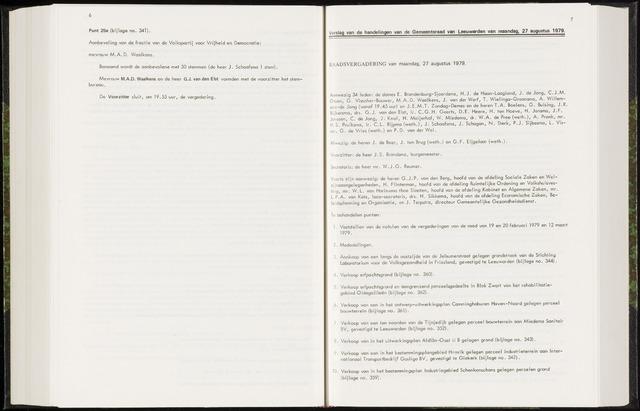 Raadsverslagen van de gemeente Leeuwarden, 1865-2007 (Notulen) 1979-08-27