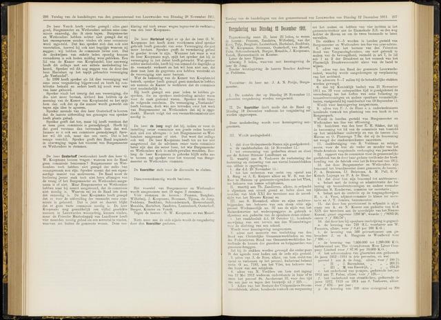 Raadsverslagen van de gemeente Leeuwarden, 1865-2007 (Notulen) 1911-12-12