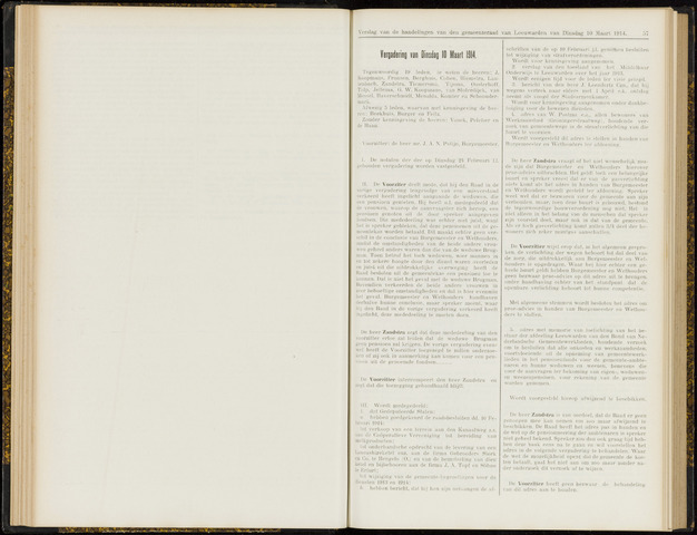 Raadsverslagen van de gemeente Leeuwarden, 1865-2007 (Notulen) 1914-03-10