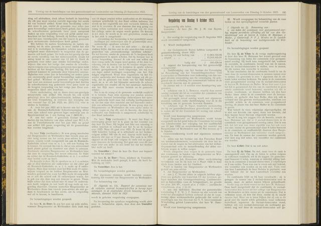 Raadsverslagen van de gemeente Leeuwarden, 1865-2007 (Notulen) 1923-10-09