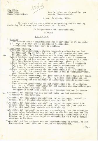 raadsverslagen Idaarderadeel 1935-1983 1958-10-30