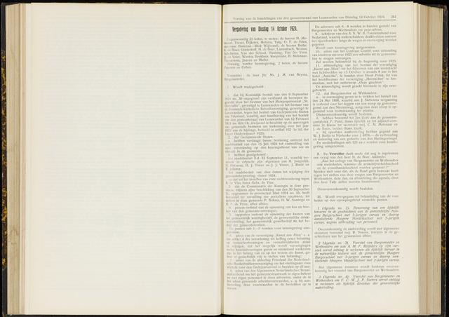Raadsverslagen van de gemeente Leeuwarden, 1865-2007 (Notulen) 1924-10-14