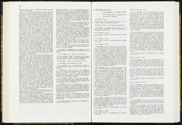 Raadsverslagen van de gemeente Leeuwarden, 1865-2007 (Notulen) 1967-10-31
