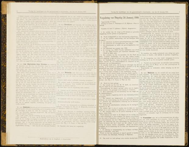 Raadsverslagen van de gemeente Leeuwarden, 1865-2007 (Notulen) 1888-01-24